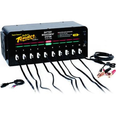 Tri state battery warehouse battery tender 10 bank charger 12 for more information sciox Choice Image